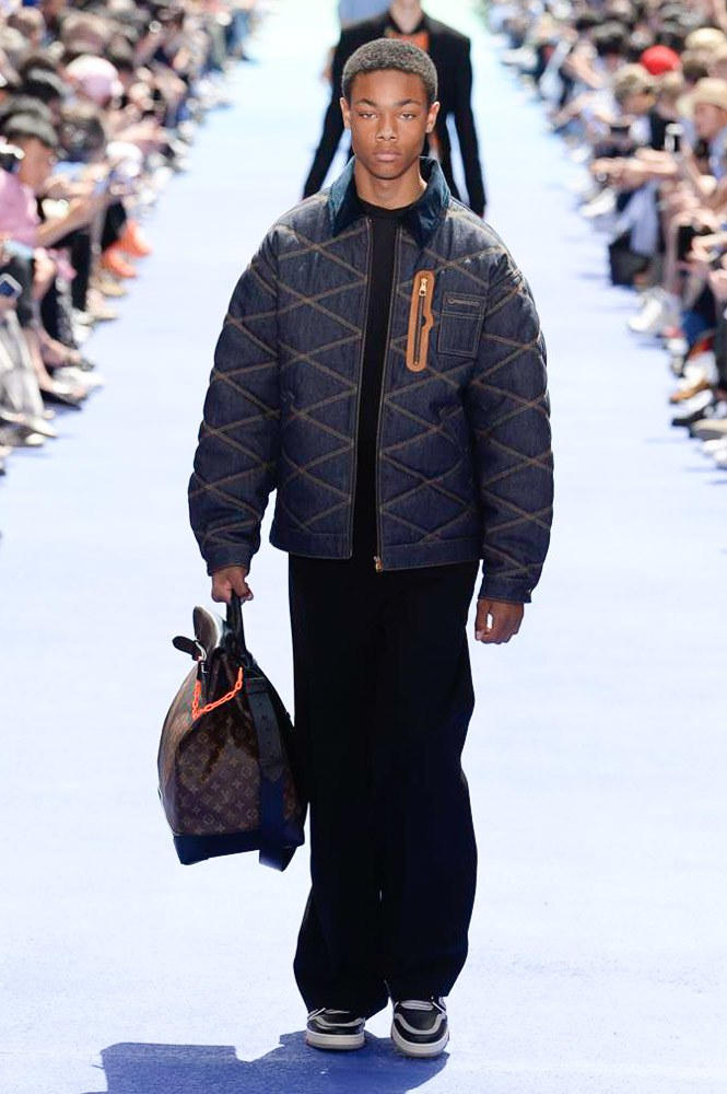 Virgil Abloh Louis Vuitton Paris Fashion Week Men's 2019 Quilted Bomber Jacket