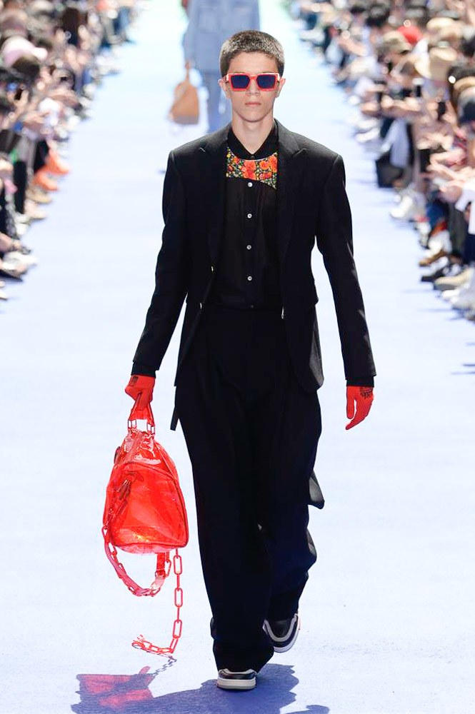 Virgil Abloh Louis Vuitton Paris Fashion Week Men's 2019 Transparent Red Bag