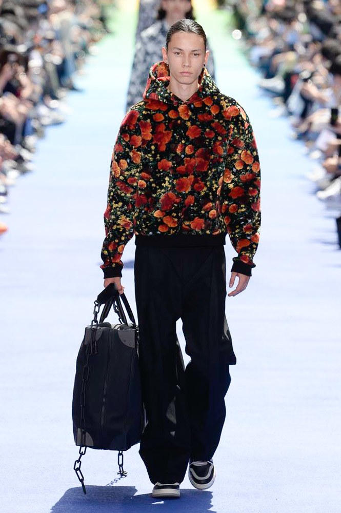 Virgil Abloh Louis Vuitton Paris Fashion Week Men's 2019 Graphic Floral Hoodie