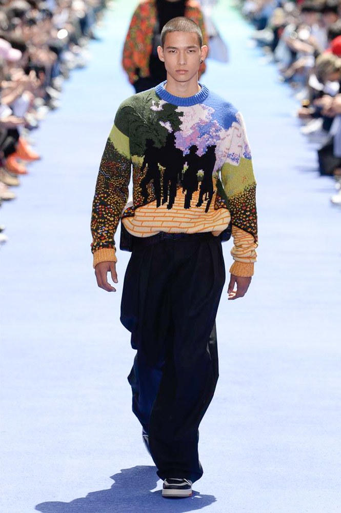 Virgil Abloh Louis Vuitton Paris Fashion Week Men's 2019 Knitted Sweater