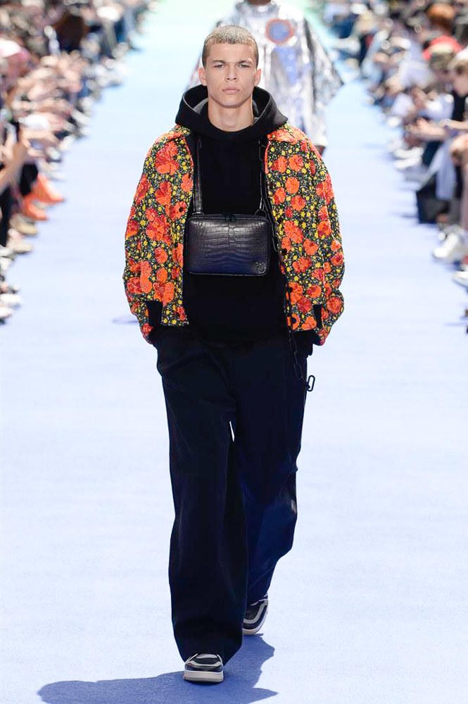 Virgil Abloh Louis Vuitton Paris Fashion Week Men's 2019 Graphic Print Floral Jacket