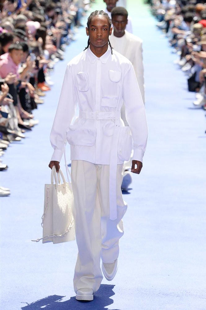 Virgil Abloh Louis Vuitton Paris Fashion Week Men's 2019 All White Look