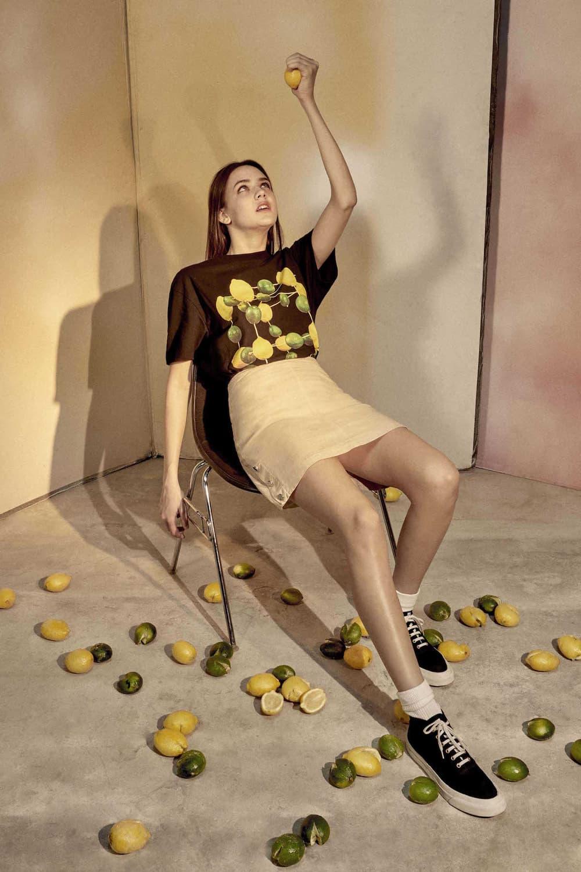 Maison Kitsune x Toilet Paper Collaboration Fashion Lookbook Magazine Editorial Bold Prints Science Graphic Motif