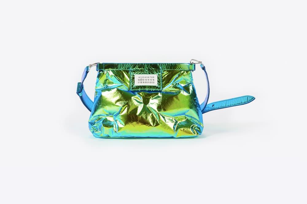 maison margiela john galliano glam slam bags new fw18 fluorescent yellow pink metallic puffy