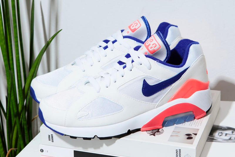 Nike Air Max 180 Sneakers Ultramarine White Pink Blue NAKED CPH Summer Sale