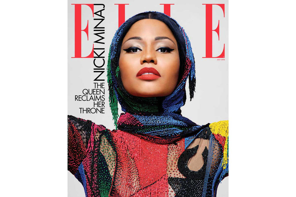 Nicki Minaj ELLE Magazine July 2018 Cover Karl Lagerfeld