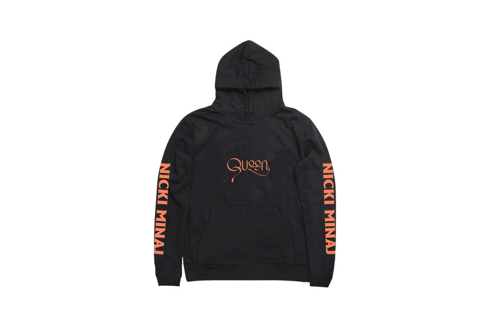 Nicki Minaj NICKIHNDRXX Tour Merch Queen Hoodie Black