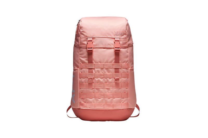 Nike Satin AF-1 Backpacks Pink Coral Stardust Black Silver Grey Gold 37e1fc944782b