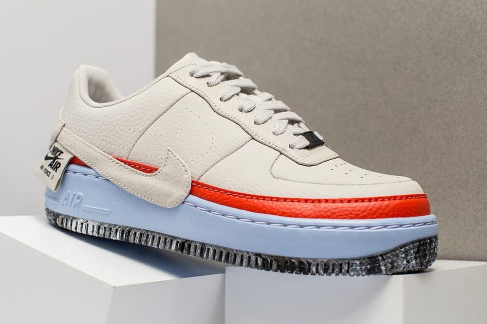 Nike Air Force 1 JESTER XX Light Bone Black Pink Blue Yellow Orange Marbled Midsole Sneaker
