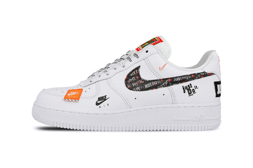 info for 50154 e90c4 Nike Air Force 1 07 Premium Low High Just Do It Pack White Orange Logo