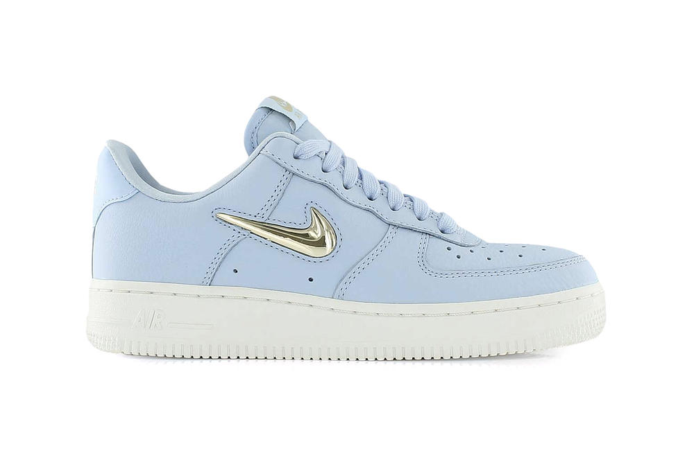 best website 24257 ac08d Nike Air Force 1 Premium LX Royal Tint Blue Metallic Gold Summit White