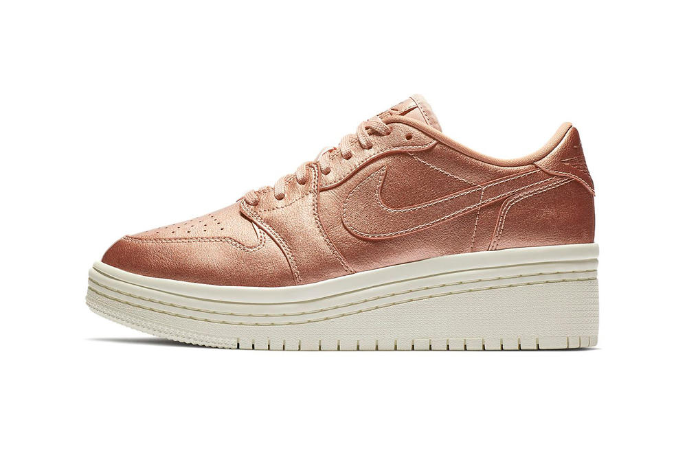 af2d9da414a Elevate Your Style With This Rose Gold Platform Air Jordan 1