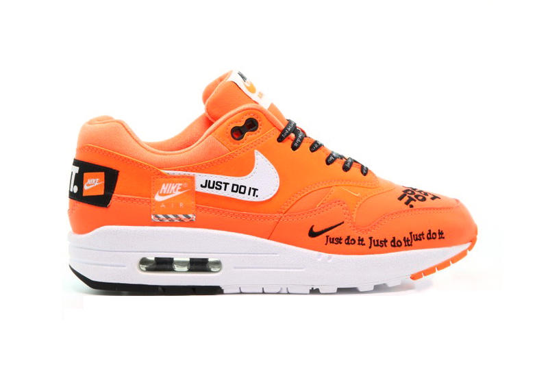 Nike Air Max 1 LX Just Do It Total Orange White Black 0c935f390