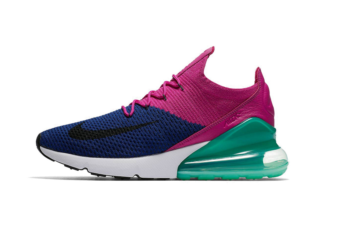 check out fb4c7 7040f Nike Drops Fuchsia And Teal Air Max 270 Flyknit | HYPEBAE