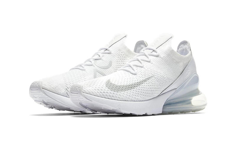 1f82d079f2bb Nike Air Max 270 Flyknit Triple White First Look