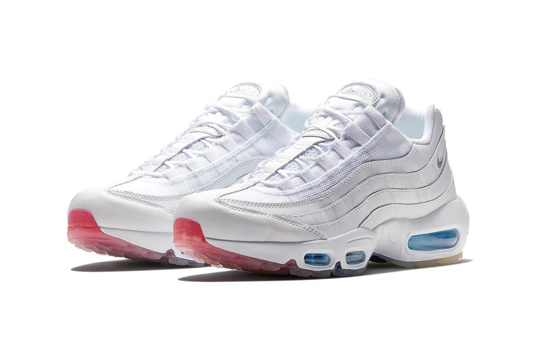 sports shoes bb4ad acbef Nike Air Max 95 White Glacier Blue Surprise Sole | HYPEBAE