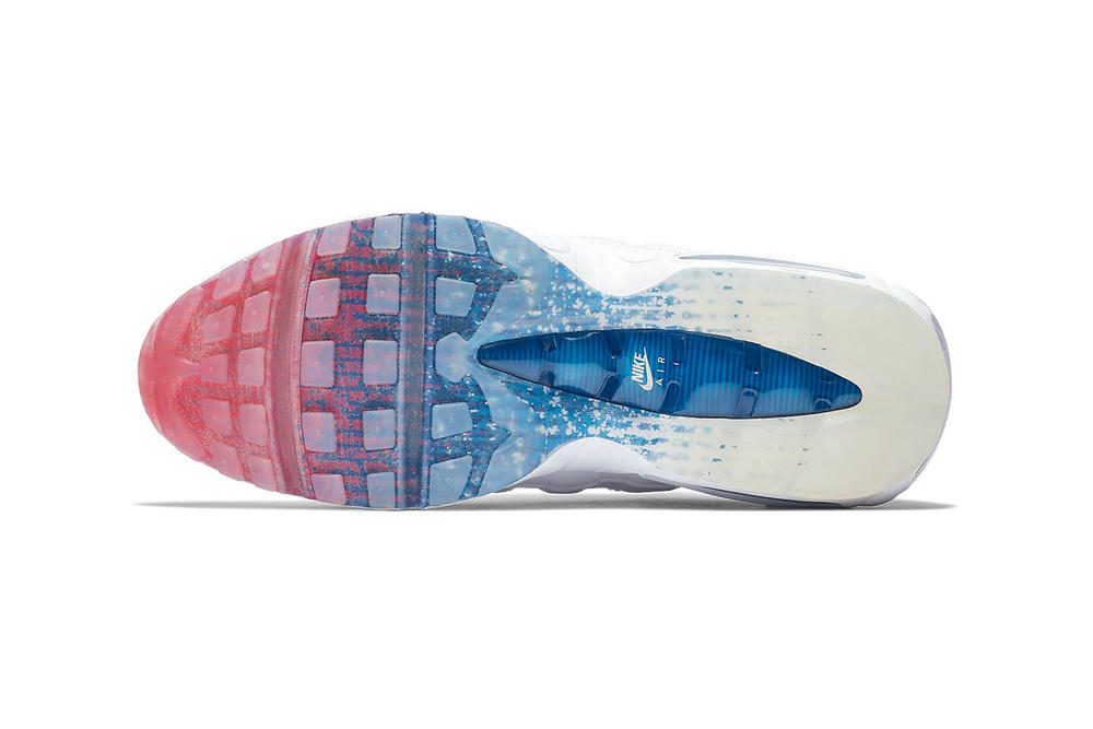 finest selection cb237 6aea1 Nike Air Max 95 White Photo Blue Glacier Blue Metallic Silver