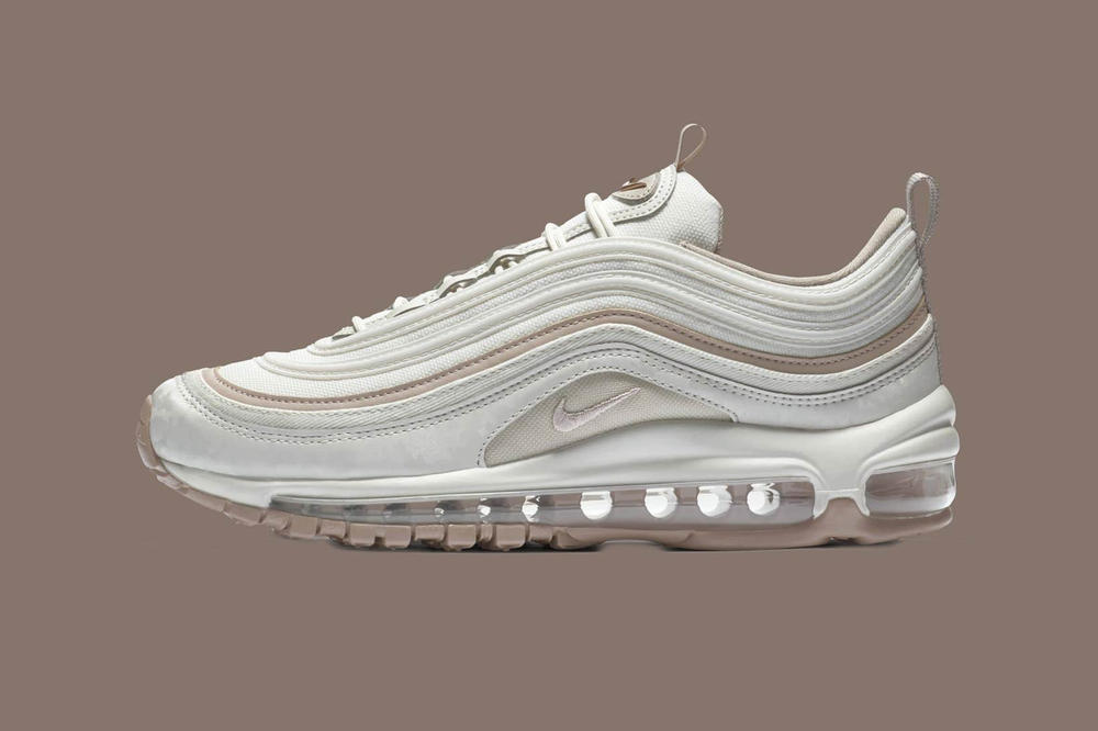 83b7de9967b2 ... Nike Air Max 97 Premium Rose Gold Light Bone Diffused Taupe Sepia Stone  ...
