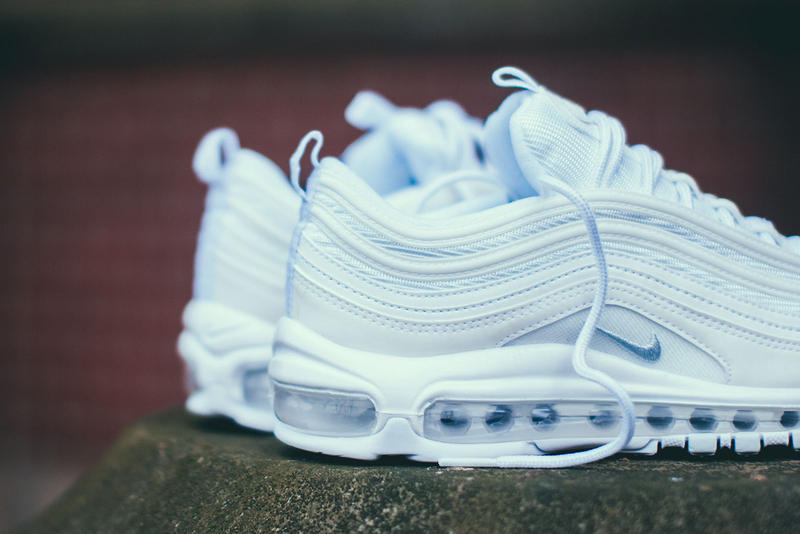 nike air max 97 triple white platinum restock closer look