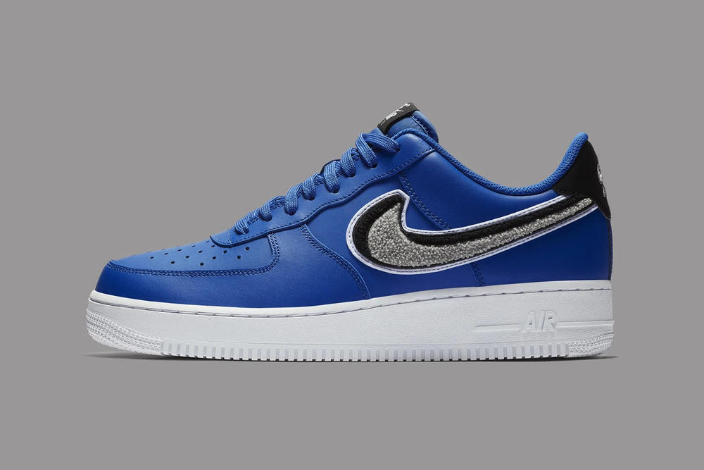 Nike Air Force 1 Low 3D Chenille Swoosh Blue