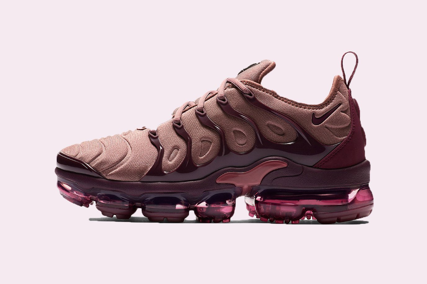 Air VaporMax Plus in Mauve and Burgundy