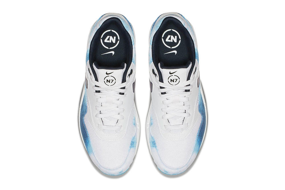 Nike N7 Air Max 1 Acid Wash White Blue Sneakers