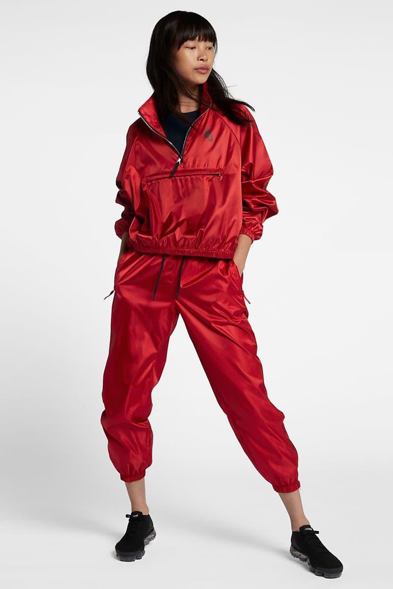 NikeLab Nike Red Track Jacket Bomber Pants Set