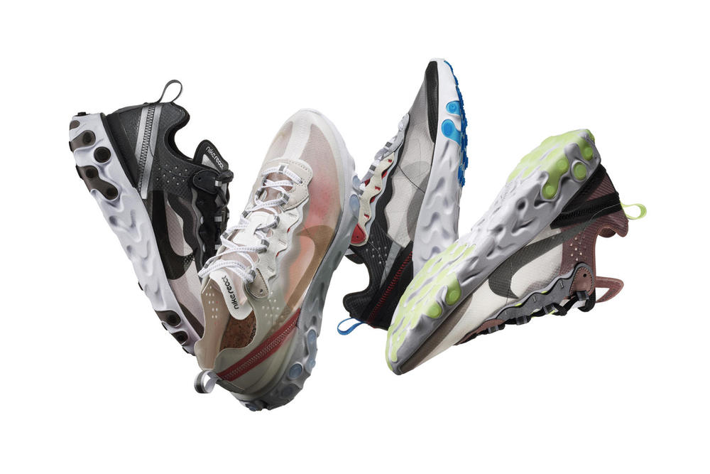 Nike Epic React 87 Fall Summer 2018 Colorways Black White Green Red Deep Pink