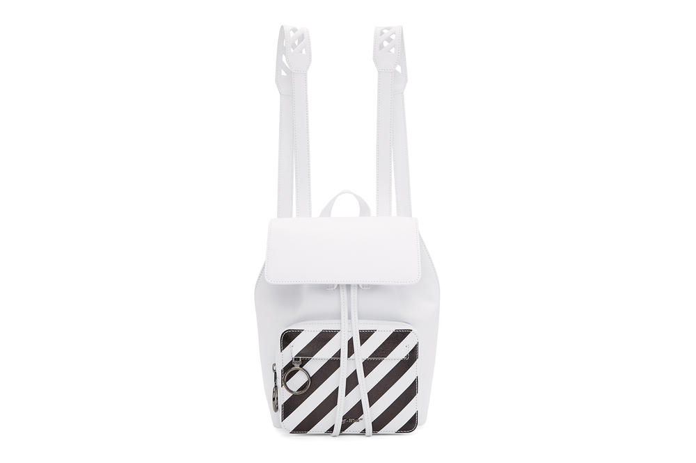 Off-White™ Diagonal Stripe Mini Backpack Black White