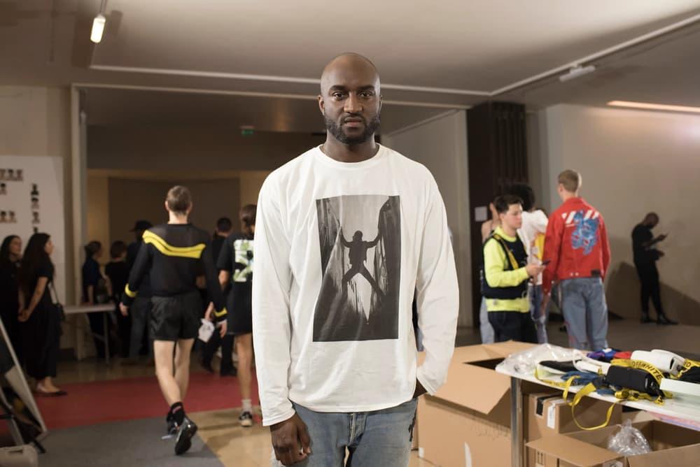 Off-White Virgil Abloh Menswear Spring/Summer 2019 Paris Fashion Week Men's Collection Backstage Longsleeved Shirt White