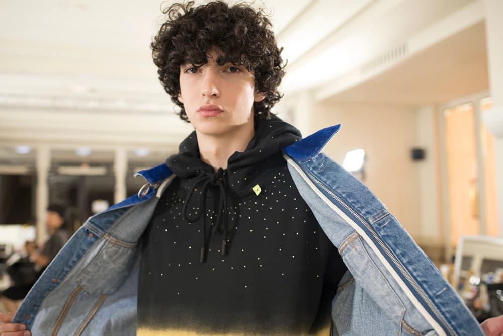 Off-White Virgil Abloh Menswear Spring/Summer 2019 Paris Fashion Week Men's Collection Backstage Jacket Hoodie Blue Black