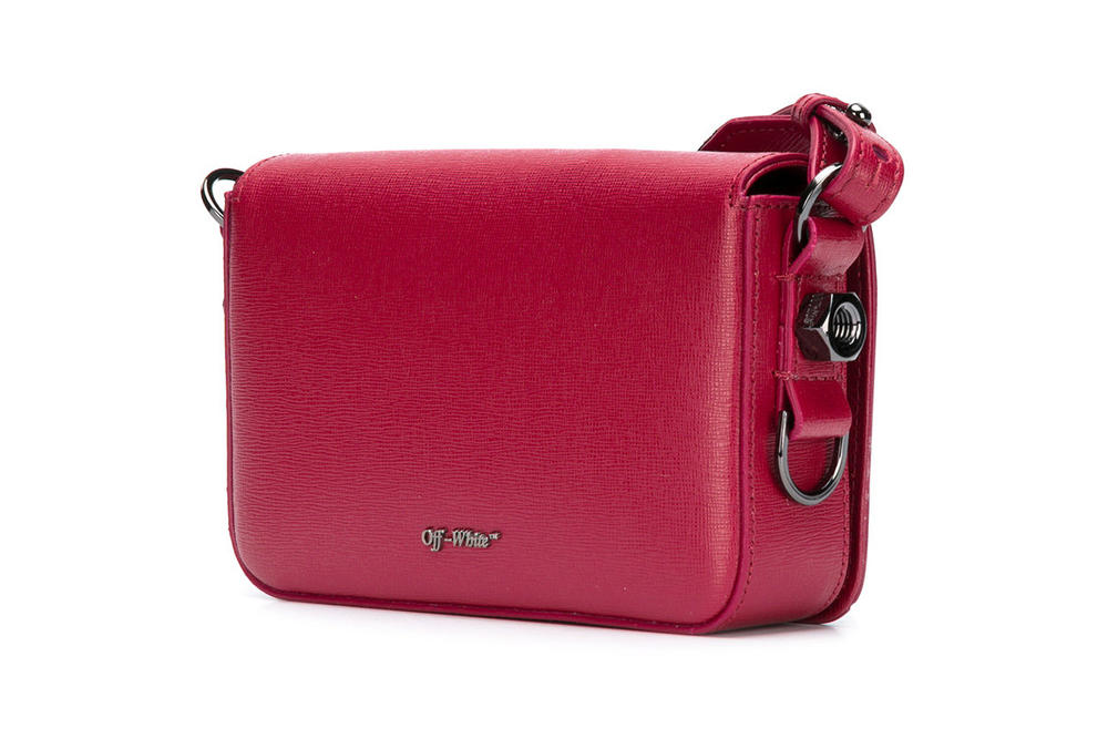 Off White Mini Binder Clip Bag Red