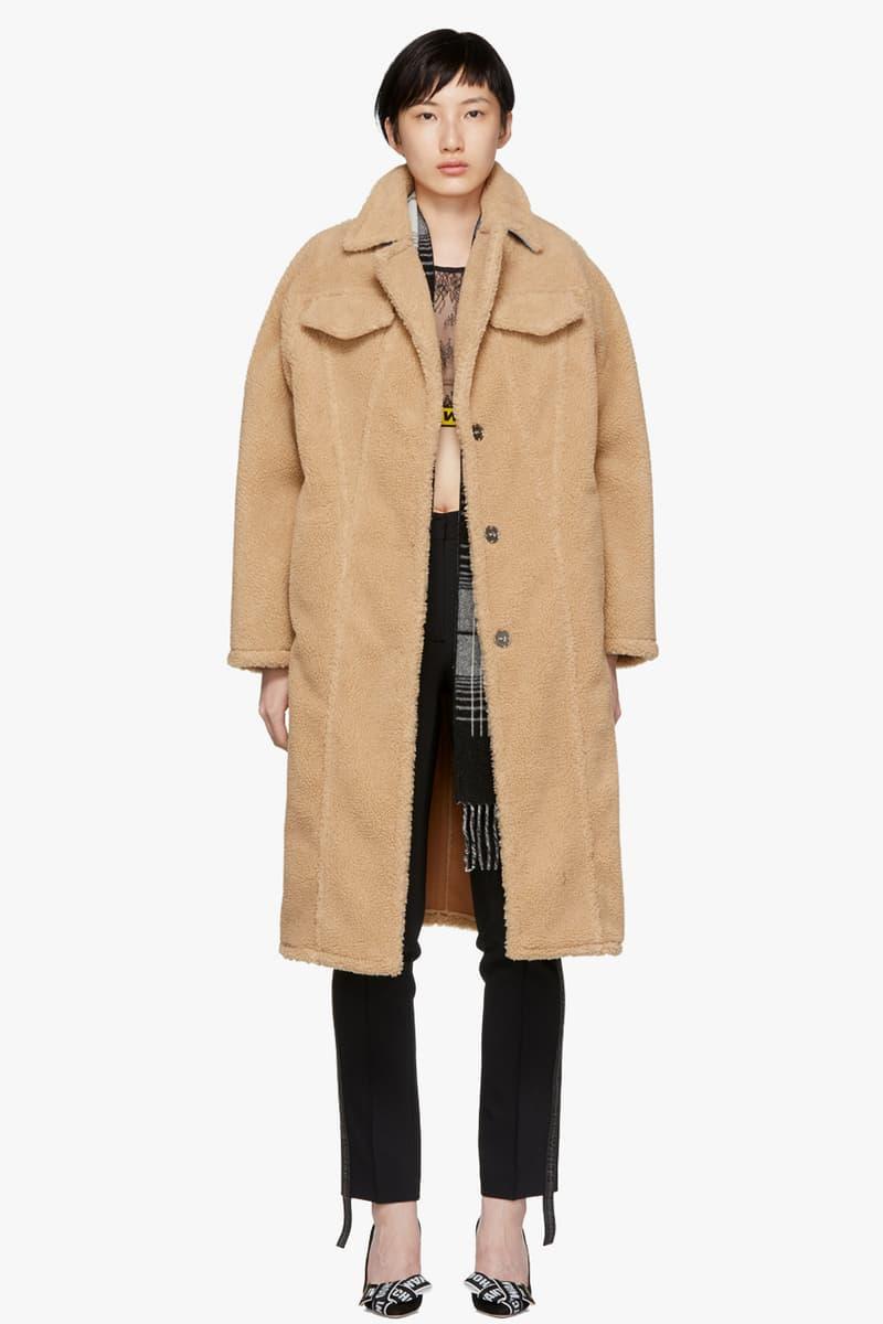 Off-White Faux Fur Bear Coat Brown