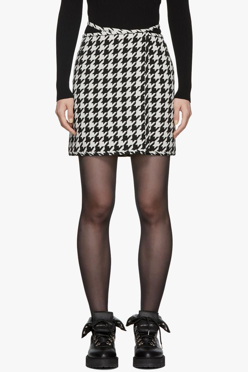 Off-White Houndstooth Miniskirt Black White