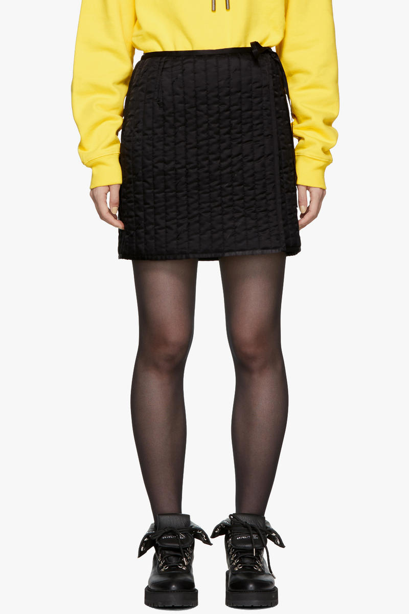 Off-White Quilted Miniskirt Black