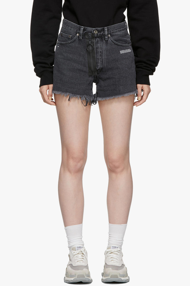 Off-White EMB Denim Shorts Grey