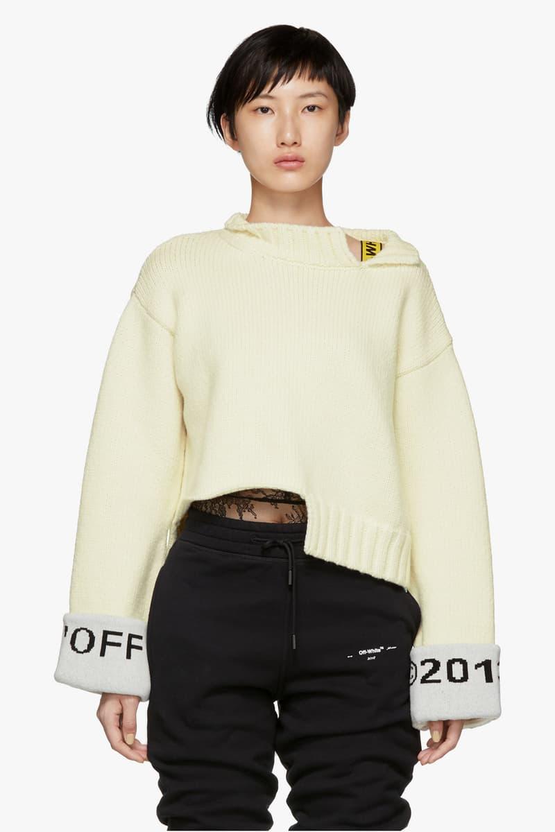 Off-White Cuff Over Crewneck Sweater White