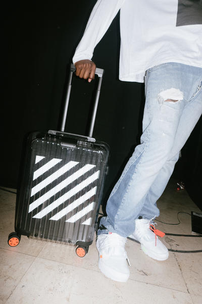 Off-White Virgil Abloh Rimowa Transparent Suitcase Luggage Collaboration Stripes