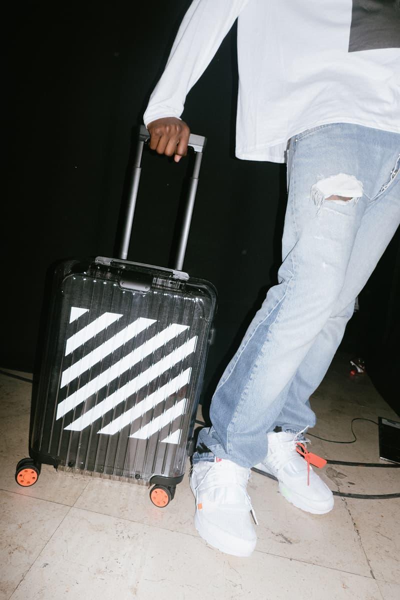 Off-White Virgil Abloh Rimowa Transparent Suitcase Luggage Collaboration Stripes