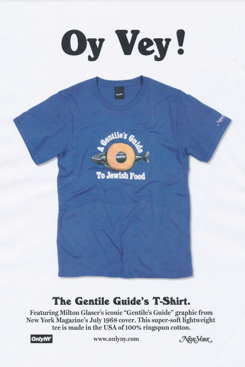 ONLY NY x New York Magazine Collaboration Gentile's T-shirt Royal
