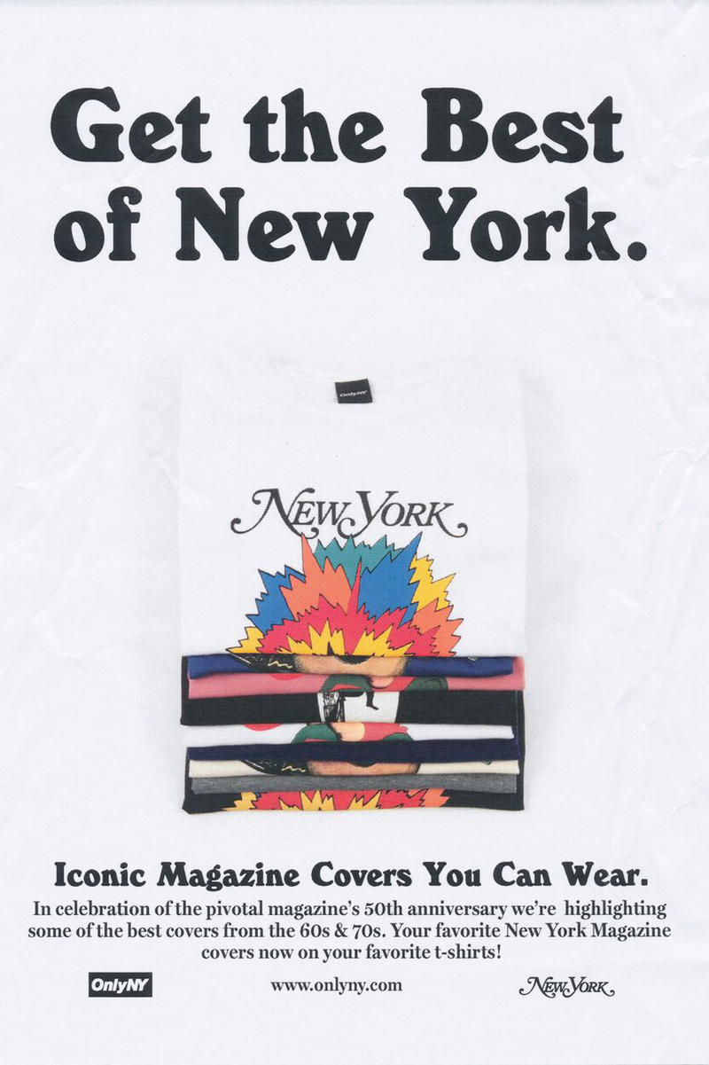 ONLY NY x New York Magazine Collaboration Psychedelic T-shirt White