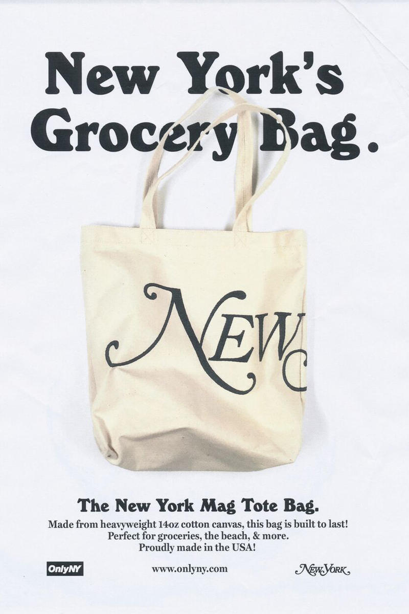ONLY NY x New York Magazine Collaboration Logo Tote Bag Natural