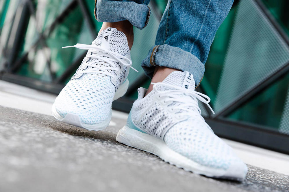 Parley adidas Originals UltraBOOST Blue White On Foot