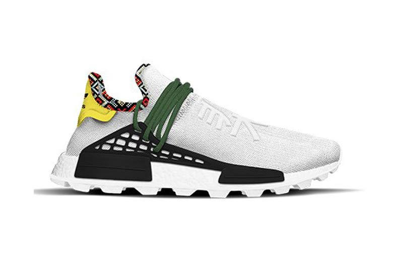 Pharrell Williams x adidas Originals Hu NMD Inspiration Pack Footwear White Bold Green Bright Yellow