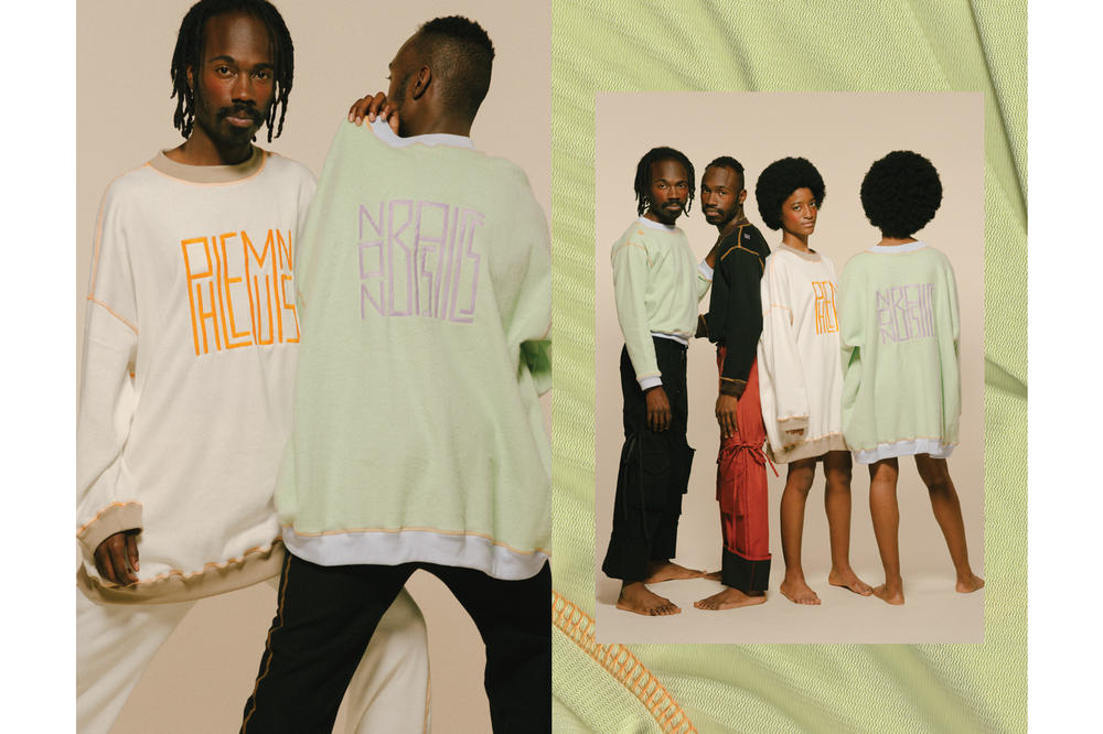 PHLEMUNS Nonbasics Lookbook Logo Sweatshirts Green White