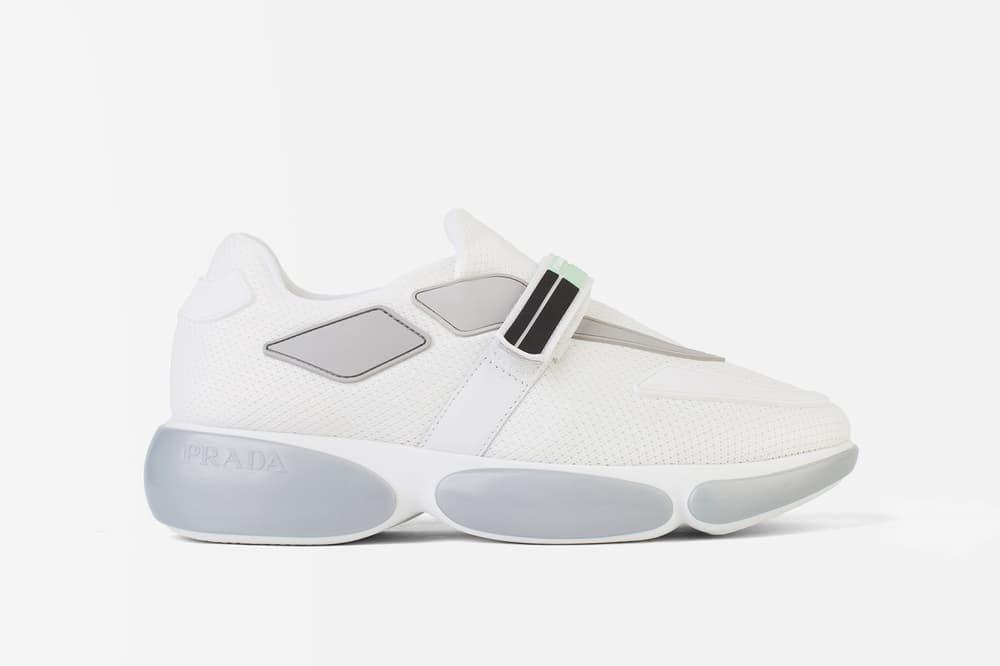 Shop Prada Cloudbust Sneakers in White Chunky Retro Shoe Footwear 118ad5d1f68