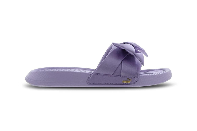 huge discount fc980 ab72a PUMA Bow Slides Pastel Purple & Mint Green | HYPEBAE