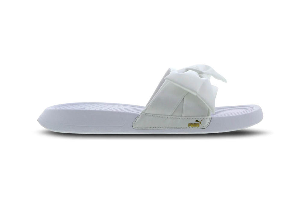 PUMA Drops Bow Slides Sandals Pink White Black