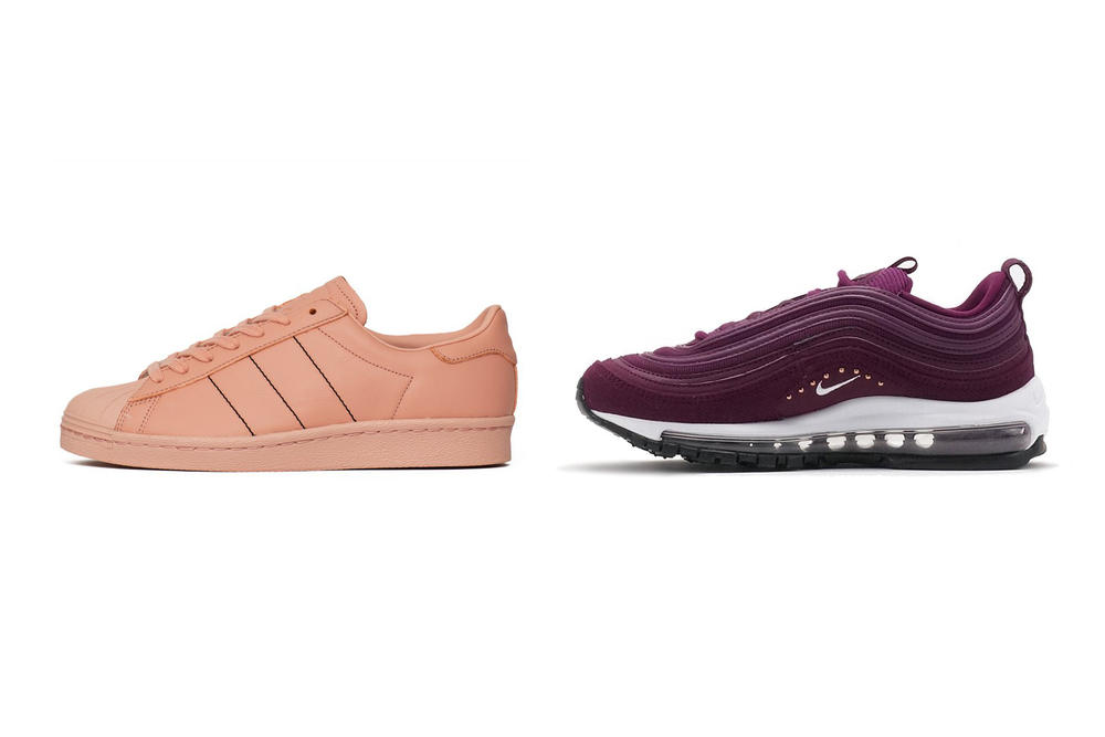 3f455e9d33f The Sneaker Edit adidas Originals Superstar 80s Trace Pink Nike Air Max 97  Special Edition Bordeaux