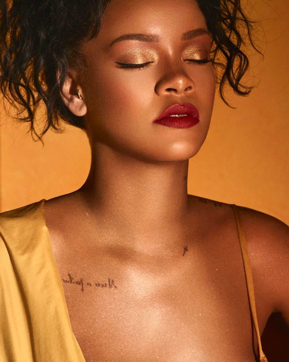 Rihanna Fenty Beauty Flyliner Liquid Eyeliner Pro Filt'r Eye Primer Moroccan Spice Eyeshadow Palette Campaign July 6